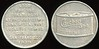 CALIFORNIA<br /> Lot 204:  GOOD / FOR ONE / TUNABURGER / AT THE WHITE STAR / TUNA RESTAURANT / TREASURE ISLAND / G.G.I.E. / SAN FRANCISCO / 1939 // (Chicken of the Sea tuna can with label), al rd 32mm.  Listed 1K-13.    G4-(EV$64/125)-MB$40 - DNS