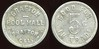 CALIFORNIA<br /> Lot 112:  GRAFTON / POOL HALL / GRAFTON, / CAL. // Good For / 5¢ / In Trade, al rd 21mm.  Listed YOL 35D R, 1K-3, Gross-1 $75-100.    G3-(EV$64/125)-MB$50 - DNS