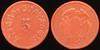 Latin America TRANSPORTATION - Guayaquil, Ecuador<br /> Lot 374:  E. DE C.U. DE GUAYAQUIL / 5 // (crest), carmine ce rd 23mm.  Listed 360A $20.   G3-(EV$30/60)-MB$20 - SOLD $51
