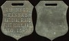 MILITARY - Ft. Riley, Kansas<br /> Lot 432:  (fob slot) / 2ND REGT. / KANSAS / NATIONAL GUARD / FORT REILY, KAS. / AUG. 15-26 / 1910 (a/i) // (blank), br shield 37x45mm, scattered light raised spots, patina.    G3-(EV$64/125)-MB$60 - SOLD $90