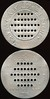 Latin America TRANSPORTATION - Rio de Janeiro, Brazil<br /> Lot 353:  VIAḈȦO EXCELSIOR / (row of 5 holes) / EMBARQUE / (row of 7 holes) / NA / (row of 9 holes) / SECCȦO / (row of 7 holes) / (row of 5 holes) / NO // Esta Ficha / (row of 5 holes) / Indica A Importancia / (row of 7 holes) / Da Passagem / (row of 9 holes) / Devolva A / (row of 7 holes) / Ao Chauffeur /(row of 5 holes) / Quando Pagar, (Rio de Janeiro), al rd 58mm, extensive surface porosity O&R).  Listed partially OLTDB.  Strangest token I have ever encountered! G2-(EV$25/50)-MB$20 - DNS