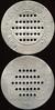Latin America TRANSPORTATION - Rio de Janeiro, Brazil<br /> Lot 353:  VIAḈȦO EXCELSIOR / (row of 5 holes) / EMBARQUE / (row of 7 holes) / NA / (row of 9 holes) / SECCȦO / (row of 7 holes) / (row of 5 holes) / NO // Esta Ficha / (row of 5 holes) / Indica A Importancia / (row of 7 holes) / Da Passagem / (row of 9 holes) / Devolva A / (row of 7 holes) / Ao Chauffeur /(row of 5 holes) / Quando Pagar, (Rio de Janeiro), al rd 58mm, extensive surface porosity O&R).  Listed partially OLTDB.  Strangest token I have ever encountered! G2-(EV$25/50)-MB$20 - DNS