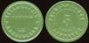 Latin America TRANSPORTATION - Concepcion, Chile<br /> Lot 356:  FERRO-CARRIL / URBANO / DE CONCEPCION // Primera Clase / 5 / 132517 / Centavos, two green slices w/black center slice vu rd 21mm.  Listed 180B $15.  G5-(EV$35/70)-MB$25 - SOLD $66