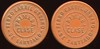 Latin America TRANSPORTATION - Santiago, Chile<br /> Lot 359:  FERRO CARRIL / URBANO / PRIMERA / CLASE / DE SANTIAGO // (same), reddish brown vu rd 26mm.  Listed 680B $12.    G4-(EV$20/40)-MB$15 - SOLD $36