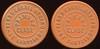 Latin America TRANSPORTATION - Santiago, Chile<br /> Lot 359:  FERRO CARRIL / URBANO / PRIMERA / CLASE / DE SANTIAGO // (same), reddish brown vu rd 26mm.  Listed 680B $12.    G4-(EV$20/40)-MB$15 - SOLD $36