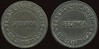 Latin America TRANSPORTATION - Santiago, Chile<br /> Lot 362:  FERRO CARRIL / URBANO / SECUNDA / DE SANTIAGO // (same), black vu rd 26mm.  Listed 680E $12.  G3-(EV$20/40)-MB$15 - DNS