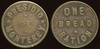 MILITARY - Presidio of Monterey, California<br /> Lot 425:  PRESIDIO / OF / MONTEREY // One / Bread / Ration, br rd 21mm, obverse die break.  Listed CA1260.    G3-(EV$250/500)-MB$225 - DNS