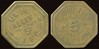 COLORADO - Colorado Springs<br /> Lot 100:  TEN PIN / ALLEY / 5¢ / J.F.C. // Good For / 5¢ / In Trade, (Colorado Springs), br oc 27mm.  Unlisted!  Consignor suggested attribution.  G3-(EV$75/150)-MB$50 - DNS