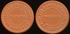 Latin America TRANSPORTATION - Santiago, Chile<br /> Lot 360:  FERRO CARRIL / URBANO / PRIMERA / DE SANTIAGO // (same), reddish brown vu rd 26mm.  Listed 680D $12.  G3-(EV$20/40)-MB$15 - DNS