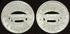 OHIO - Cincinnati<br /> Lot 396:  COSMOPOLITAN HALL / (hanging billiard table) / POOL ROOM // F. Duttonhofer / 5¢ / (hanging billiard table) / In Trade / 1813 Vine St. (Cincinnati), al rd 35mm.  Listed CI1975 DF29, G-17 $50/75.   G4-(EV$50/100)-MB$25