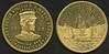 """MEDAL <br /> Lot 630:  SOUVENIR VISIT OF U.S. NAVY FLEET / REAR ADMIRAL EVANS / 19 (bust of Evans right) 08 / """"FIGHTING BOB""""  TO PACIFIC COAST // (three battleships), br rd 36mm, reeded edge.  Listed HK-351 Rare.    G5-EV$50/100-MB$35"""