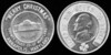 """ENCASED COIN --Maryland<br /> <br /> Lot 767  """"MERRY CHRISTMAS"""" / (nickel 1954D) / COUNTY TRUST OF MARYLAND / ANNAPOLIS, MARYLAND // KMANGB, rd 35mm.  G5-($32-$64) Sold $32.00"""