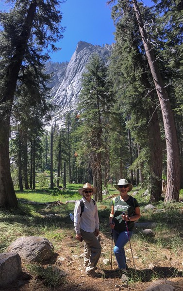 The Watchtower - Sequoia NP: Tokopah Falls Marble Fork of the Kaweah River with Chris and Mary