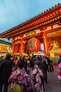 Asakusa at New Year