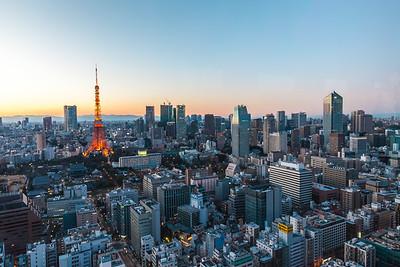 Skyline from World Trade Center in Hamamatsucho