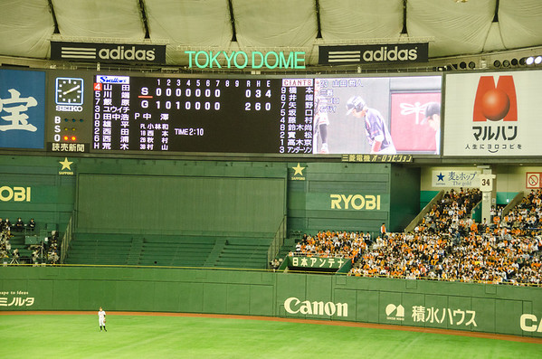 Scoreboard at the Tokyo Dome | Baseball In Japan