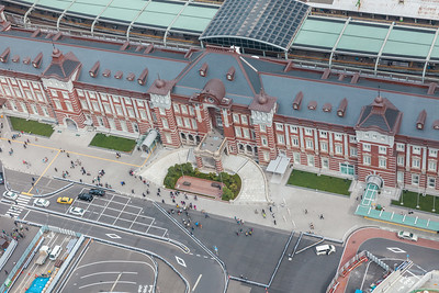 Tokyo Station from above