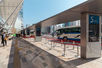 Busstop at Tokyo Station