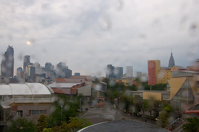 Taken from the window of Yoyogi Youth Center on a rainy day.