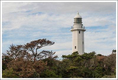 The lighthouse at Noujimazaki is the second oldest lighthouse in Japan.
