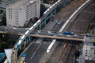 Tokyo Monorail and Shinkansen