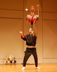 Hanakagomari-no-kyoku (Juggling with balls and a decorated bamboo basket)