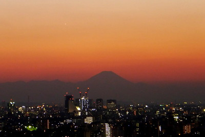 Venus and Mount Fuji