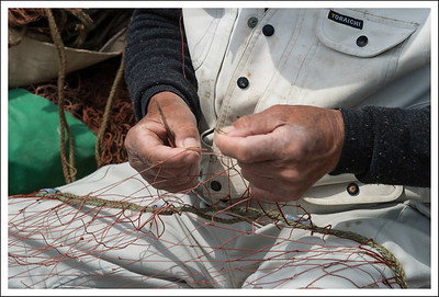 Mending nets.  This is what Peter and John must have been doing when Jesus called them into the ministry.