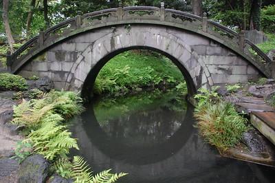 Engetsu-kyo (Full Moon Bridge) in Koishikawa Korakuen Gardens, Tokyo