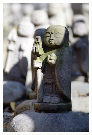 Another Jizo at the temple.  These little statues are dedicated to preserving the souls of children who have died.