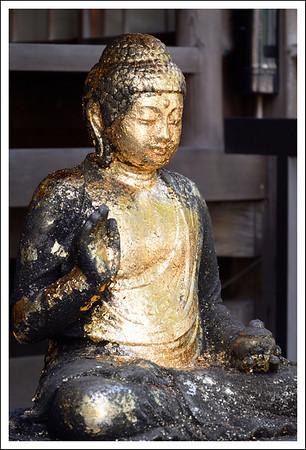 Golden Buddha at Daienji Temple.