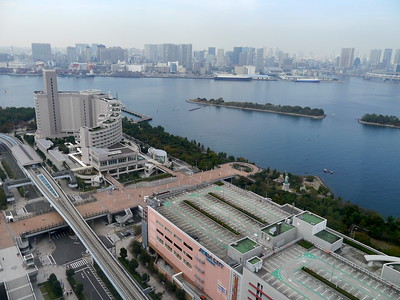 The view from Fuji Television Headquarters