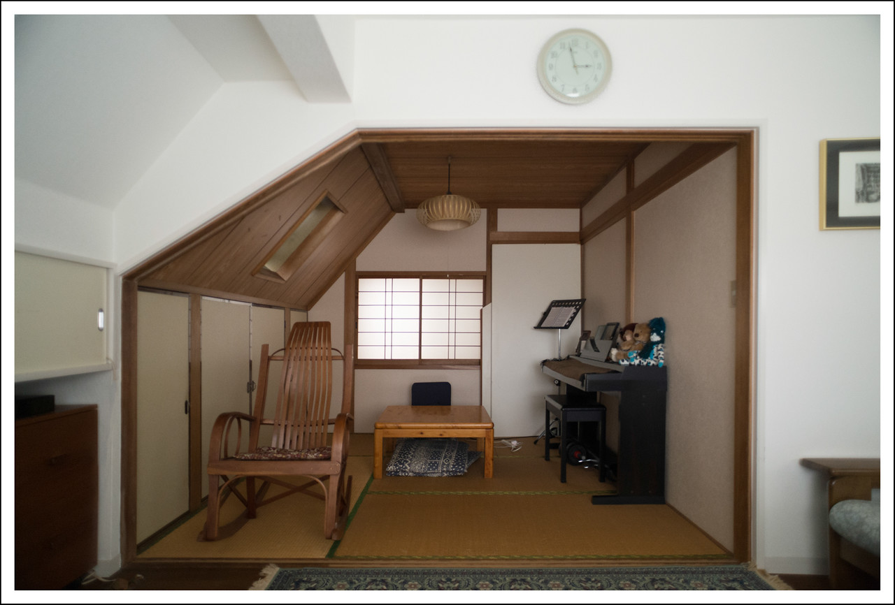 The Japanese room, taken from the living room.