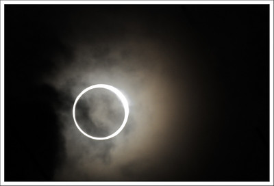 The solar eclipse taken from our north balcony.
