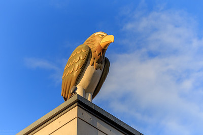 The watchful eagle on the roof of a Koban (Japanese police box) https://en.wikipedia.org/wiki/Kōban
