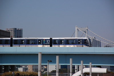 Yurikamome fully automated transit system, Odaiba