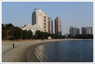 The Odaiba bay inside Tokyo Bay.  These buildings are apartments.  I think it would be a nice place to live.