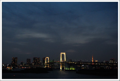 The bridge and Tokyo tower.