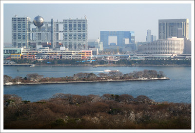 Looking across Odaiba to Fuji television.