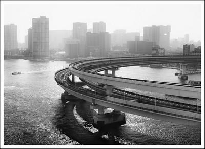 The on ramp to the bridge.
