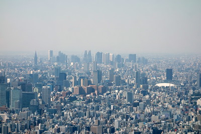 You can see Shinjuku in the distance, and Tokyo Dome to the right