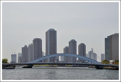 Eitai bridge with Chuo bridge on the right.
