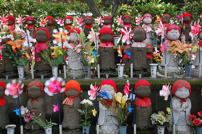 Jizo statues at Zojoji Temple