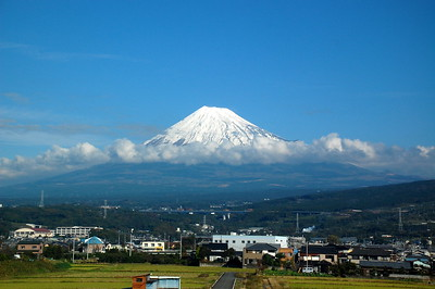 Mount Fuji viewed from the Shinkansen