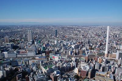 View from Sunshine 60 Tower in Ikebukuro