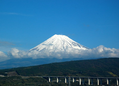 Mount Fuji viewed from the Shinkansen