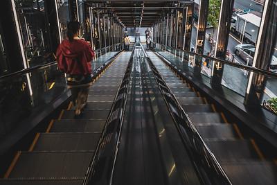Escalator at Tokyo Plaza.