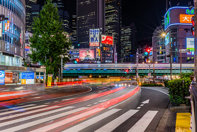 Shinjuku light trails.