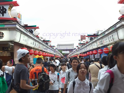 Shopping Street in front of Temple