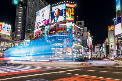 Light trail at Shibuya.